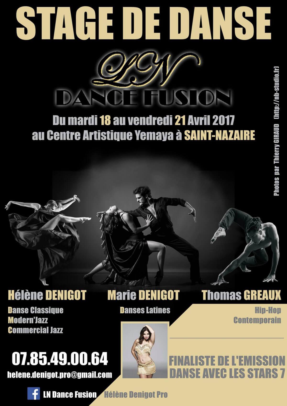Stage de danse du 18 au 21 Avril 2017