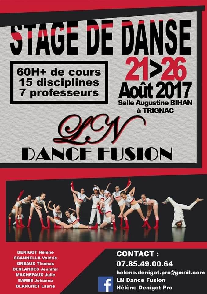 Stage de danse du 21 au 26 Août 2017