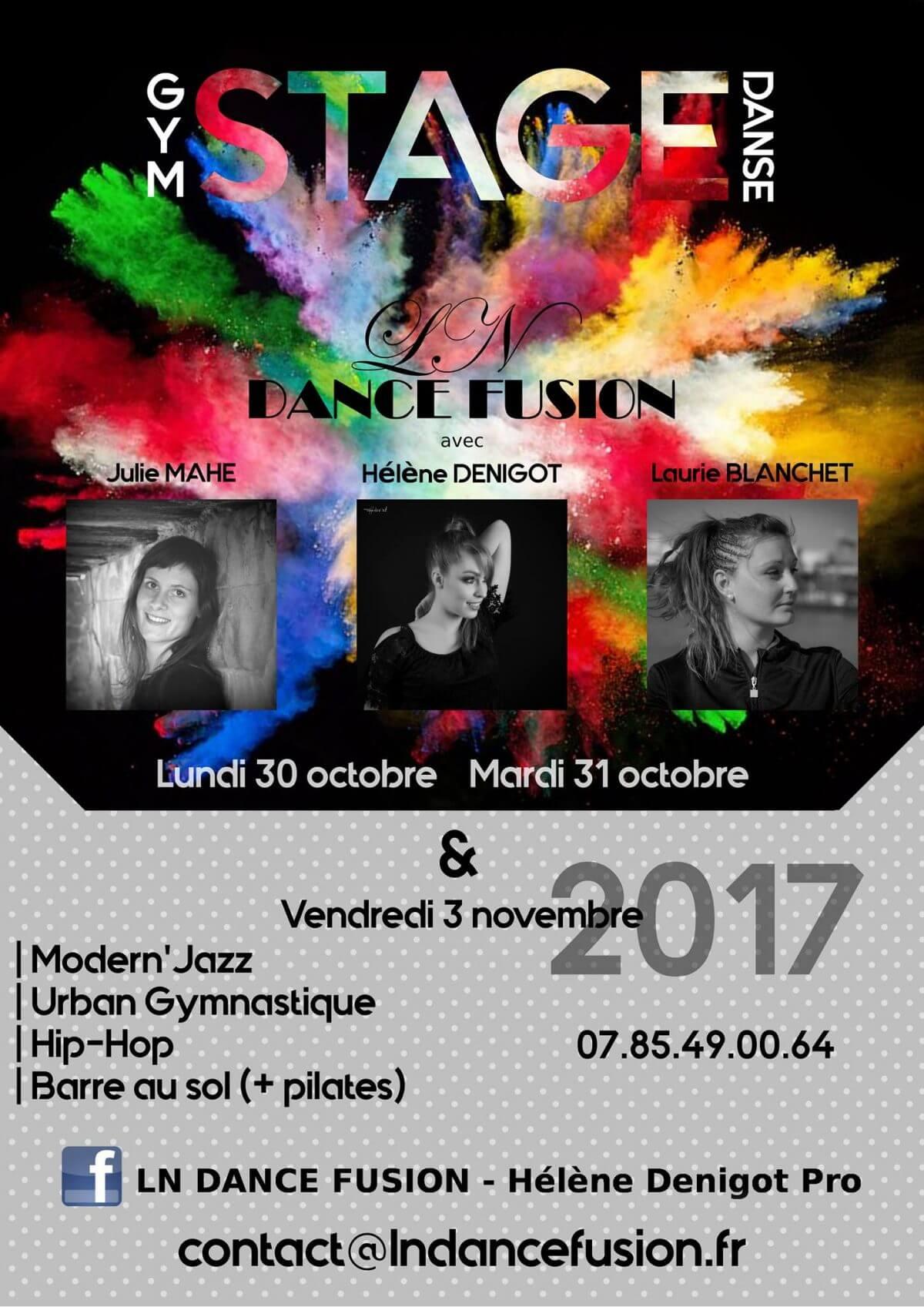 Stage de danse du 30 Octobre au 3 Novembre 2017
