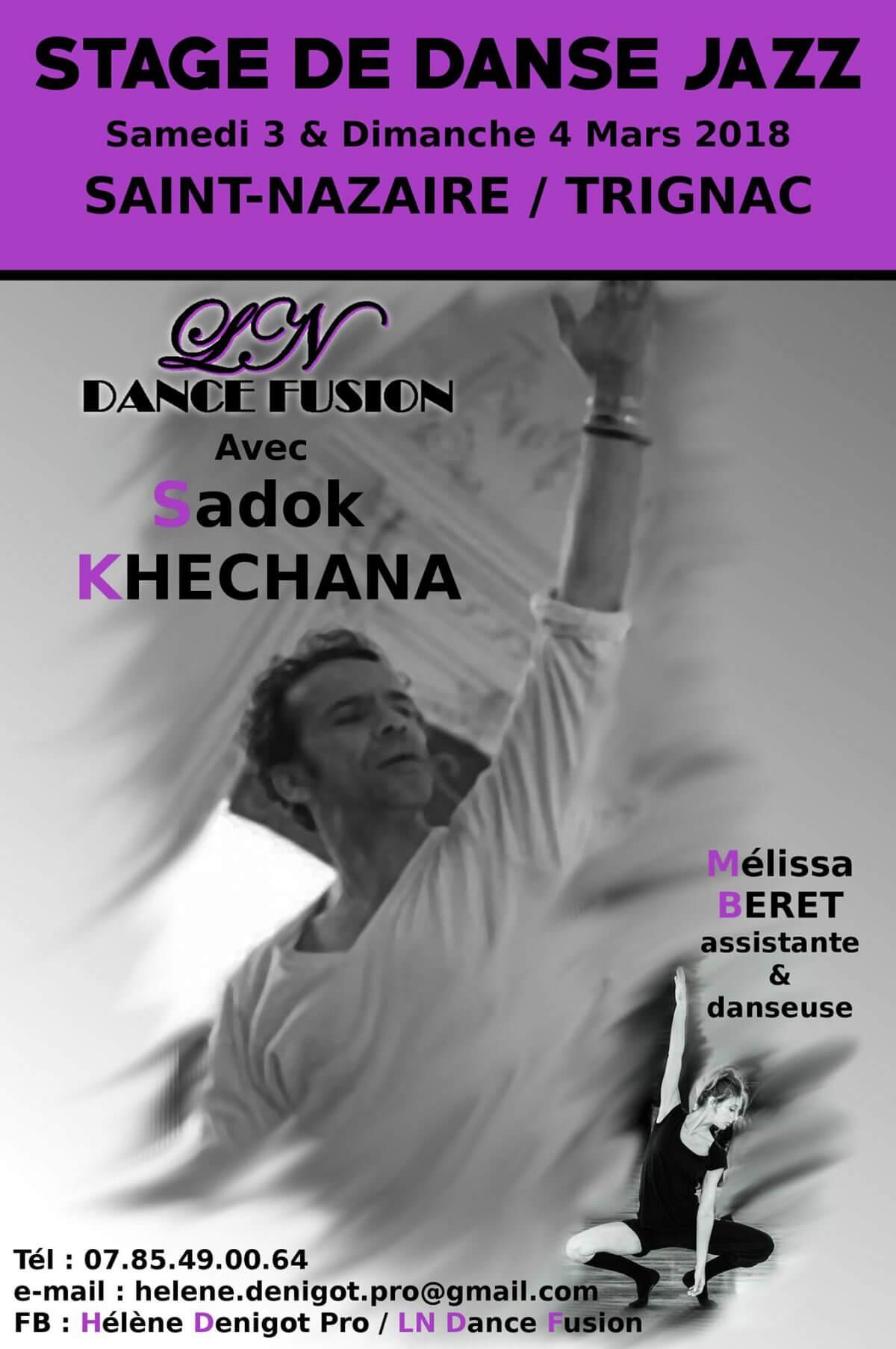 Stage de danse du 3 au 4 Mars 2018