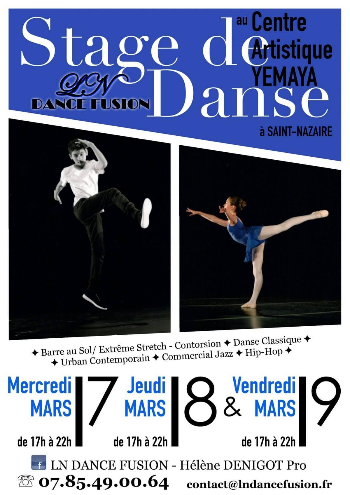 Stage de danse du 7 au 9 Mars 2018
