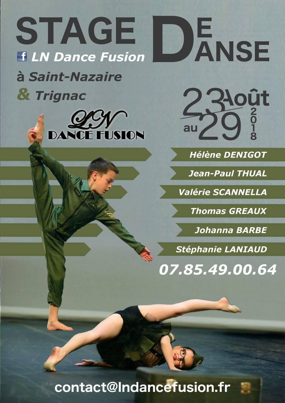 Affiche stage de danse LN Dance Fusion à Trignac