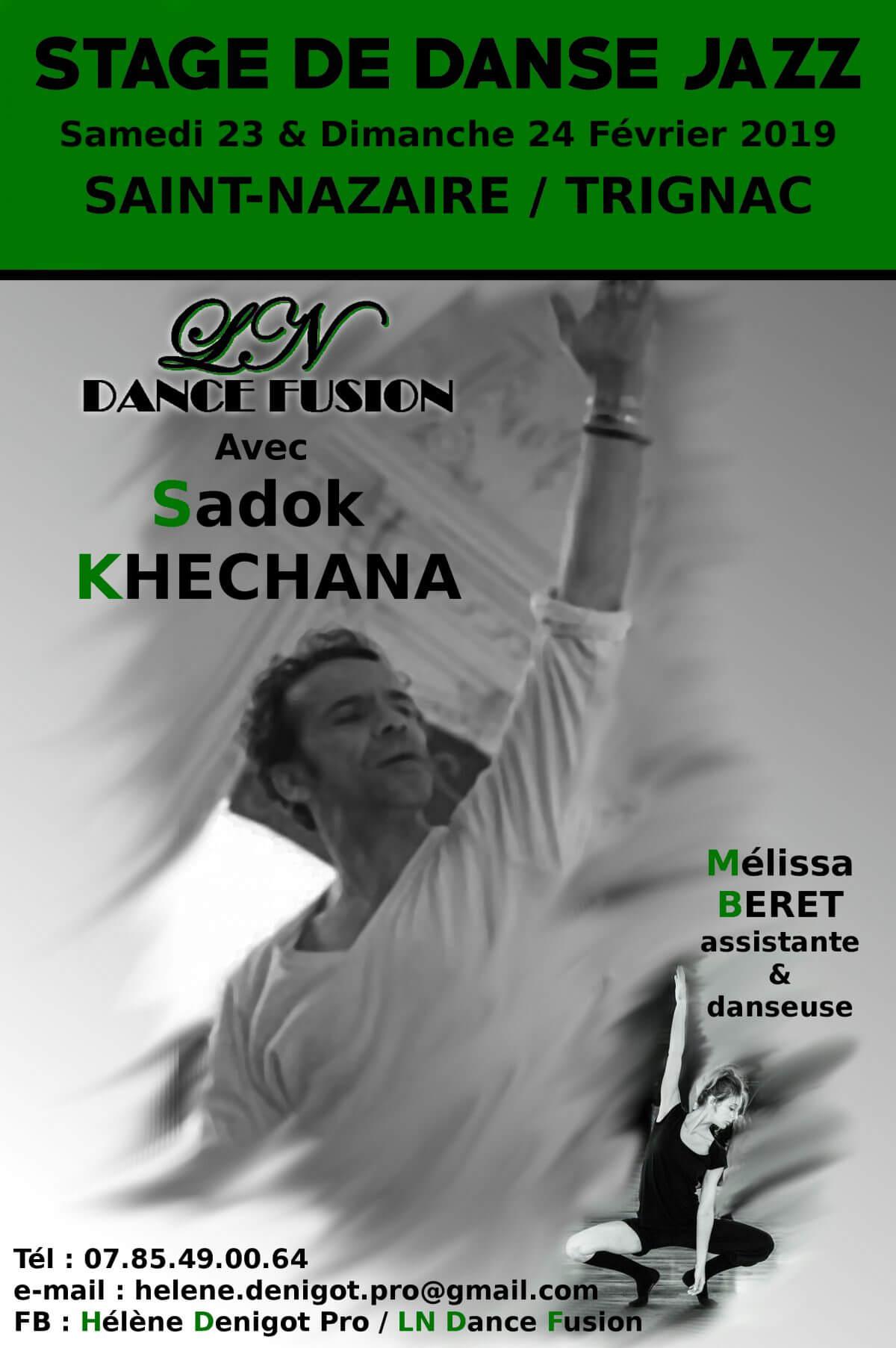 Affiche stage de danse LN Dance Fusion à Saint-Nazaire et Trignac