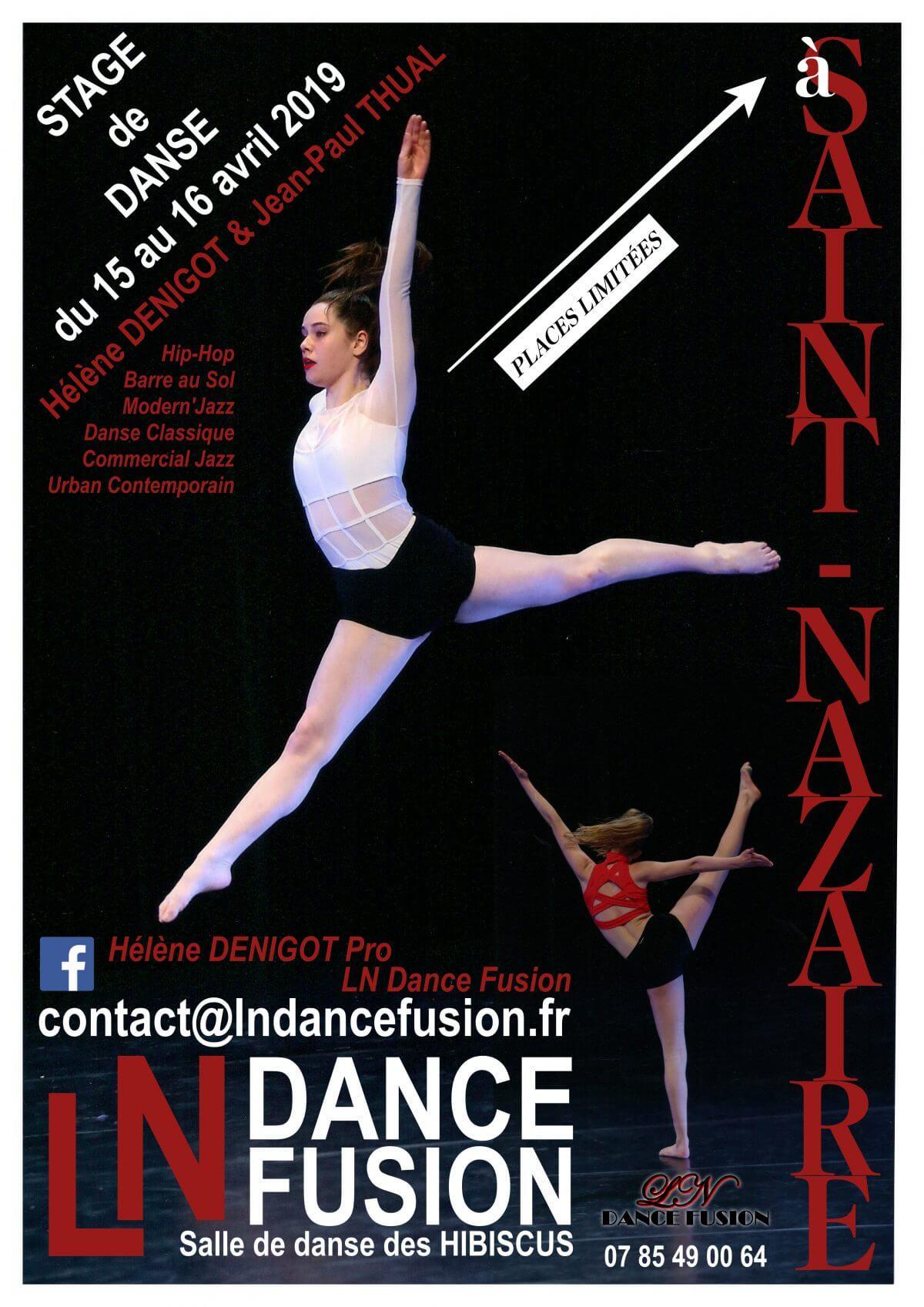 Affiche stage de danse LN Dance Fusion à Saint-Nazaire